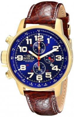 Invicta Herren-Armbanduhr XL Chronograph Quarz Leder 3329 für 99,99 € (194,00 € Idealo) @Amazon