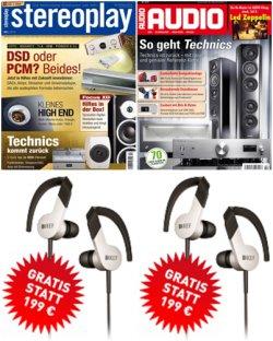 Kef M200 In-Ear Kopfhörer inkl. Jahresabo der Zeitschrift Audio für 72€ oder Stereoplay für 78€