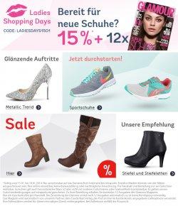 Ladys Shopping Days bei Mirapodo: 15% Gutschein und 12 Ausgaben Glamour gratis