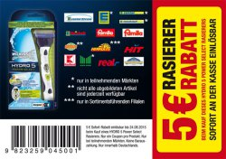 [Lokal] Wilkinson Hydro 5 Power Select Rasierer + 1 Klinge für -0,01€ @real, edeka usw.