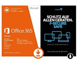 Microsoft Office 365 Home für 5 PCs plus F-Secure Safe (Windows oder Mac) für 66€ @Amazon