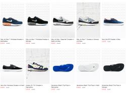 Schuhe Sale bei Urban Outfitters z.b. Nike Air Max 1 Wildleder-Sneaker in Marineblau  für 5 € [ Idealo 98,95 € ]