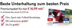 Sky Premiumpaket für nur 16,99 €/mtl. statt 35,99 €/mtl. inkl. 1 Paket + HD-Leihreceiver + Sky Go gratis @Sky