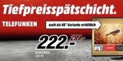 Tiefpreisspätschicht @Mediamarkt TELEFUNKEN D40F275R3C 102 cm (40 Zoll ) LED TV für 222 € statt 299 € + versandkostenfrei
