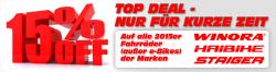 TOP DEAL: mind. 15% Rabatt auf alle Fahrräder von Staiger, Winora & Haibike @jehlebikes.de