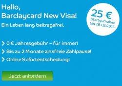 Jetzt mit 25€ Startguthaben: VISA lebenslang GRATIS und OHNE GEBÜHR am Bankautomaten im In- und Ausland
