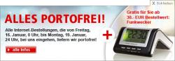 Weltbild: Kostenlose Lieferung + gratis Funkwecker ab 30€ Bestellwert + 10€ Gutschein ab 25€ MBW