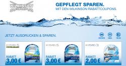 2 x 3 € und 1 x 2 € Rabatt-Coupons für Wilkinson Rasieklingen Hydro 5 und Hydro 3 @ Wilkinson