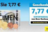 7,77 € Gutschein mit 50 € Mindesteinkaufswert für conrad.de