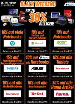 Black Weekend Sale bis zu 30 % Biliiger bei Notebooksbilliger