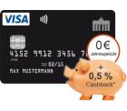Dauerhafte Kostenlose VISA Kreditkarte + 0,5% Cashback bis 30.04.2015 @Deutschland-Kreditkarte