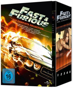 Fast & Furious – The Collection 1-5 (DVD) für 9,99 € (30,99 € Idealo) @Mediadealer