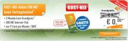 Klarmobil – 500 MB Internet Flat (9,95€) + 3 Monate gratis (monatlich kündbar)