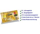 MasterCard GOLD Kreditkarte mit 40 € Startguthaben (dauerhaft kostenlos) @gebuhrenfrei.com