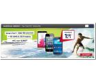 o2 Smart Surf mit 1GB Datenflat + 50 Freiminuten + 50 Frei-SMS, inkl. Smartphone ab 1 € für 9,99 € mtl. @ Modeo