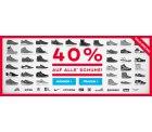 Planet Sports 40% Rabatt Sale auf alle Schuhe + 10€ Gutschein
