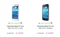 Samsung Galaxy S4 mini 8GB, Wi-Fi, schwarz oder weiss für je 179,99€ inkl. Versand  [idealo 189,90€] @ Mobilcom-Debitel