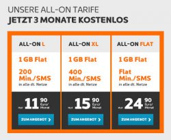 Simyo All in One Tarife: 3 Monate kostenlos ab 4,90€ mtl.