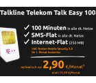 Talkline Telekom Talk Easy 100 für 2,90 € statt 19,99 € mtl. @Crash-Tarife