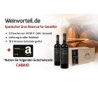 Weinvorteil: 6er Kiste Caballo dOro – Valdepeñas DO Gran Reserv für 49,99 Euro statt 110,94 Euro  + 10Euro Amazon Gutschein gratis