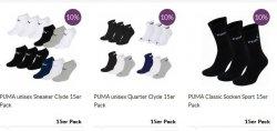 15 Paar Puma Quarter/Sneaker oder Classic Socken nur 25,50€ @ MyBodyWear.de