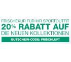 20% Rabatt auf ausgewählte Sportbekleidung bei amazon.de