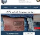 20% Rabatt auf die Marke Mustang bei jeans-direct + 5,00€ Gutschein für Newsletteranmeldung