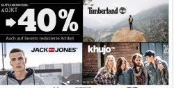 40% Rabatt auf Jack & Jones, Kuhjo  und Timberland  @hoodboyz