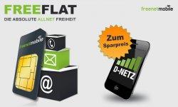 Ab 6,95 € rechnerisch mtl. Paketpreis für Allnet D-Netz freeFLAT by Klarmobil mit Internet Flat ab einmalig 6,95 €