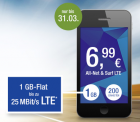 All-Net & Surf LTE und LTE Plus – dauerhaft 6,99 EUR für 1 GB LTE und 200 Min./SMS oder 9,99 EUR für 2 GB LTE und 200 Min./SMS