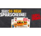 Bis zu 50 Prozent Rabatt mit den 24 Gutscheinen für Burger King