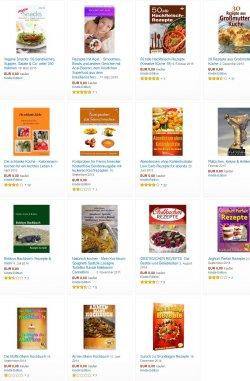 Gratis eBooks. – Rezepte, Rezepte, REZEPTE  – 15 eBooks mit Koch und Backrezepten