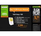 Handytarif mit 250 MB Daten-Flat, SMS-Flat, 100 Min. Allnet im D1 Netz für 2,99€  @crash-tarife.de