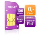 Heute vorerst letzter Aktionstag für kostenlose Community-Sprachflat zur gratis 100 MB Highspeed-Internetflat bei netzclub.net