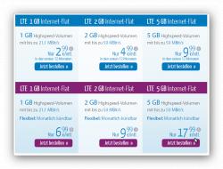 o2-Netz Verschiedene LTE Internetflat (1GB,2GB,5GB) mit Telefoni Verträge ab2,99€ mtl. @eteleon