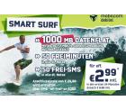 Smart Surf Aktion mit 1 GB Daten, 50 Freiminuten & 50 Freie SMS für nur 2,99 € je Monat @ Getmobile oder Logitel