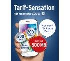 Tchibo Smartphone-Tarif für monatlich 9,95 € inkl. 500MB, 200 Min,200 SMS,30€ Bonus ohne Bindung