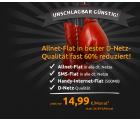 Telekom Allnet-Flat mit 500MB Internet und SMS-Flat für 14,99€ mtl. @Crashtarif