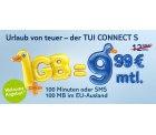TUI CONNECT S ( 100 min. oder SMS, 1GB und 100MB EU-Ausland ) für 9,99 € keine Anschlussgebühr