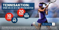 10€ Gutschein mit 60€ MBW oder 20€ Gutschein mit 100€ MBW auf Tennisartikel @Karstadt Sports