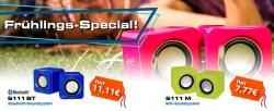 Arctic Sound S111 Mini-Lautsprecher mit Bluetooth für 11,11 €   ohne für 7,77 €
