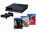 Sony PlayStation 4 500GB Jet Black + DriveClub + The Last of für 379,90 € Inkl. Versand [ Idealo 411,00 € ]  @ eBay