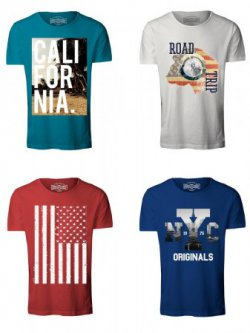 JACK & JONES Herren T-Shirt  4er Pack für 27,85€ statt 53,85€ @jeans-direct