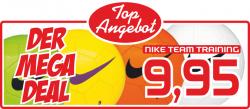 Mega Sale bei DeinSportfreund z.b NIKE TEAM TRAINING Ball ab 9,50€ + 5,95€ VSK