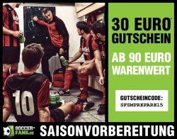 30€ Rabatt ab 90€ Warenwert auf das gesamte Sortiment @Soccer-Fans-Shop.de!