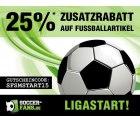 25% Zusatzrabatt auf alle Fußball-Artikel + 10€ bet-at-home Wettgutschein