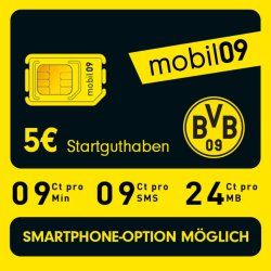 bvb mobil09 handy prepaid sim karte ohne vertrag im d1. Black Bedroom Furniture Sets. Home Design Ideas