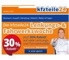 kfz-teile24 : 30% Rabatt Gutschein für Fahrwerk- und Lenkungsteile