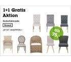 2 für 1 für ausgewählte Stühle bei moemax.de, versandkostenfrei