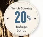 20% Rabatt Gutschein für TOM TAILOR bei Umfrage Teilnahme